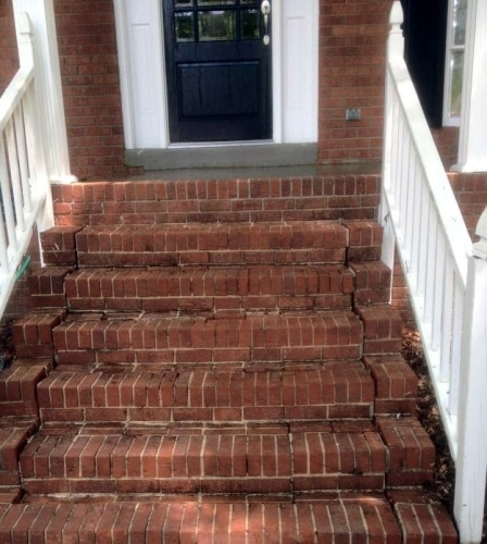 after pressure washed brick Chapin SC