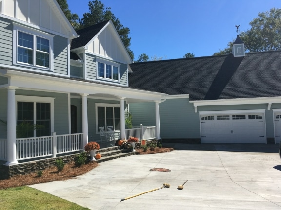 pressure washing a home in Columbia SC